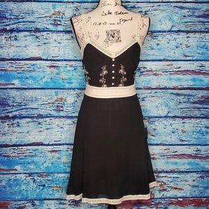 NWT  Forever 21 Silk Black & White Dress SZ LG